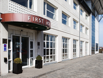 First Hotel Aalborg seen from the outside.